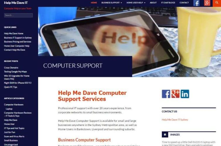 IT Website Help Me Dave