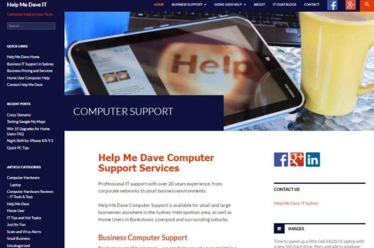 IT Website Help Me Dave