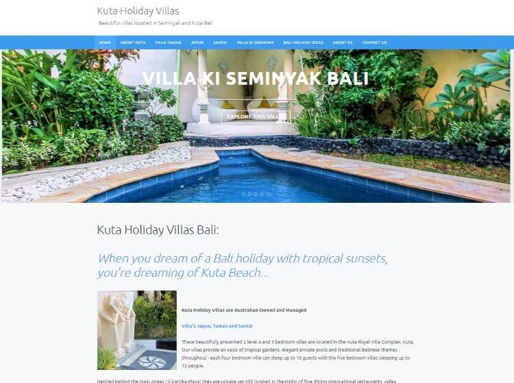 An Easy Website Update – Kuta Villas.
